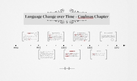 Language Change over Time - Coulmas Chapter 5