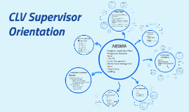 CLV Supervisor Orientation