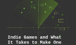 Indie Games and What It Takes to Make One