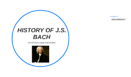 HISTORY OF J.S. BACH