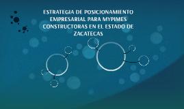 ESTRATEGIA DE POSSICIONAMIENTO EMPRESARIAL PARA MYPIMES CONS