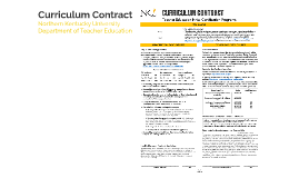 Curriculum Contract