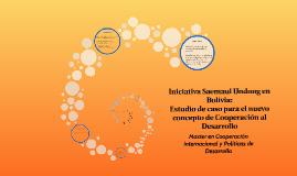 Iniciativa Saemaul Undong en Bolivia: