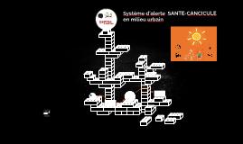 Système d'alerte  SANTE-CANCICULE en milieu urbain