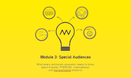 Module 3: Special Audiences