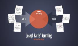 Joseph Harris' Rewriting