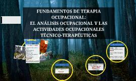 FUNDAMENTOS DE TERAPIA OCUPACIONAL:
