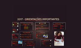 2016 - ORIENTAÇÕES IMPORTANTES