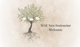 MAE New Instructor Welcome