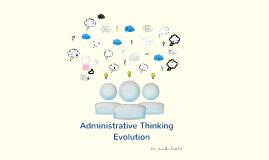 Copy of Pensamiento administrativo