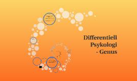 Differentiell Psykologi