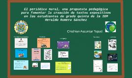 El periódico mural, una propuesta pedagógica para fomentar l