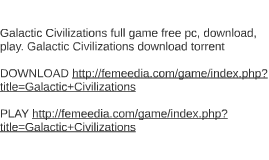 Galactic Civilizations full game free pc, download, play. Ga