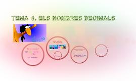 TEMA 4. ELS NOMBRES DECIMALS