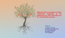 Copy of INFLUENCIA DEL ACOSO ESCOLAR EN EL BAJO RENDIMIENTO ACADEMIC