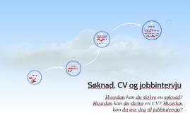 Søknad, CV og jobbintervju