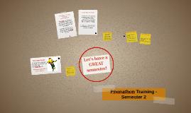 Phonathon Training - Semester 2