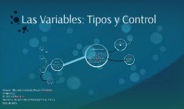 Las Variables: Tipos y Control