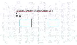 PROGRAMACIÓN DE DISPOSITIVOS II