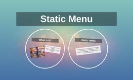 Static Menu