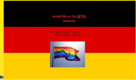 German Policy on the LGBTPAQ Community