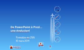 De PowerPoint à Prezi…une évolution!