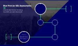 Blue Print for UDL Assessments