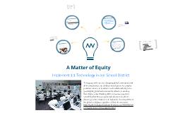 A Matter of Equity