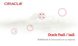 Oracle PaaS / IaaS