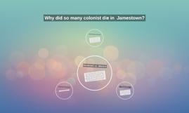 Why did so many colonist die in  Jamestown?