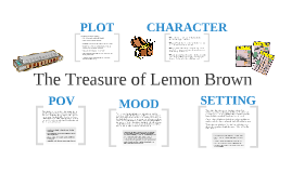 analysis of the treasure of lemon brown The characterization of lemon brown in the short story, the treasure of lemon brown is protective lemon is very protective over his treausre on page 150, lemon states, you ain't one of them bad boys looking for my treasure, is you.