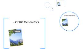 Advantages and Disadvantages of AC & DC generators