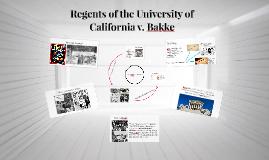 Regents of the University of California v. Bakke