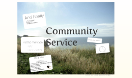 Copy of Copy of Community Service Revised