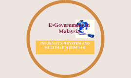 Copy of E-Goverment In Malaysia