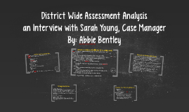 District Wide Assessment Analysis