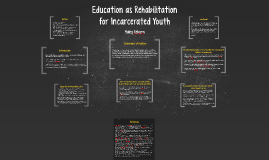 Education as Rehabilitation for Incarcerated Youth