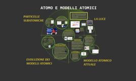 ATOMO E MODELLI ATOMICI