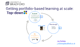 Getting portfolio-based learning at scale: top down