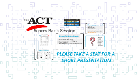 ACT Scores Back Session