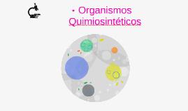 Organismos Quimiosinteticos