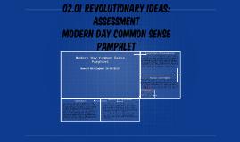 Modern Day Common Sense Pamphlet