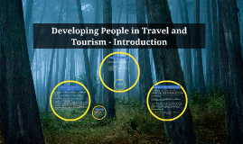 Developing People in Travel and Tourism - Introduction