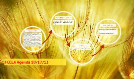 FCCLA Agenda 10/17/13
