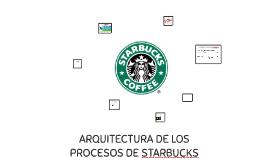 ARQUITECTURA DE LOS PROCESOS DE STARBUCKS
