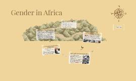 Gender in Africa