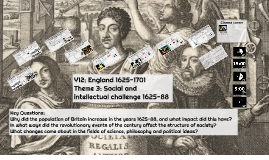 Social and intellectual challenge 1625-88