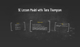 5E Lesson Model with Tara Thompson