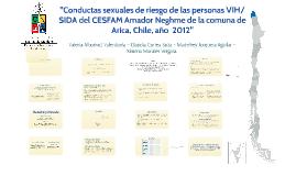 """""""Conductas sexuales de riesgo de las personas VIH/SIDA del C"""