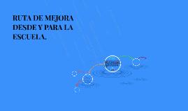 """Copy of RUTA DE MEJORA DESDE Y PARA LA ESCUELA PRIMARIA """"PROF. MIGUE"""